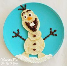 "Disney's"" Frozen"" Olaf Quesadilla Dinner!"