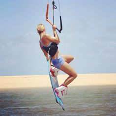 We can't wait to be back on the water! Kitesurfing, Kite Board, Action Pictures, Let The Fun Begin, Windy Day, Surf Girls, Wakeboarding, Water Sports, Surfboard