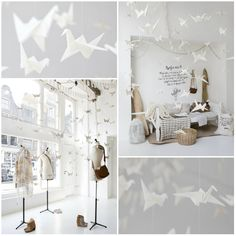 Window Sukha-Amsterdam. Love the origami cranes.