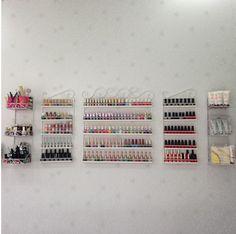 5 pz/set del display cosmetici cremagliera appeso nail polish shelf-69