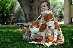 Baby Crochet Pattern Fox Baby Blanket Pattern by MyCrochetStories