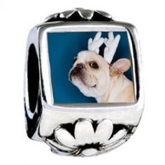 pandora bulldog charm white french bulldog pandora charm polymer clay dog bead 5129