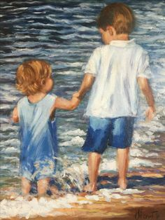 """New """"Grandchildren"""" painting for the Chitwoods of Greenville NC"""