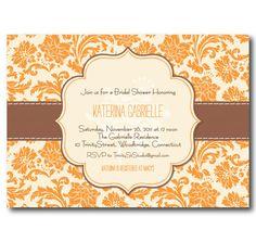 Fall Bridal Shower Invitation  Thanksgiving by TrinityStStudio