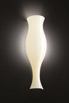 Applique Spring ivoire forme vase antique En verre soufflé ivoire brillant - Leucos - Applique