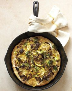 Brussels Sprout-Lemon Pizza Recipe