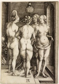 The Four Witches  Albrecht Dürer, German, 1471-1528, The Four Witches, 1497, Engraving, trimmed within platemark,