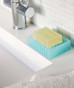 This Blue Self-Draining Soap Dish is perfect! #zulilyfinds