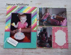 6 x 8 Birthday Scrapbook and pocket page Birthday Cheers, 8th Birthday, Scrapbook Blog, Scrapbooking, Lisa Henderson, Birthday Scrapbook, Book Layout, Basic Grey, Brighten Your Day