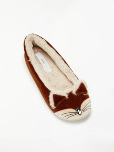 58f5a27ba2 BuyJohn Lewis & Partners Copper Fox Ballerina Slippers, Multi, S Online at  johnlewis.