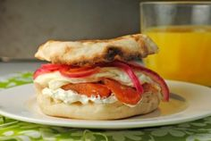 The Seattle Sandwich (Dill Cream Cheese, Lox, & A Fried Egg) ~ Breakfast for Dinner #SundaySupper! | Juanita's Cocina