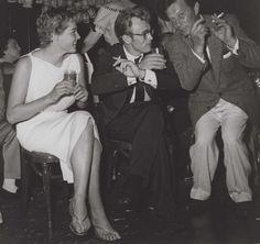 James Dean & Ursula Andress at Frank Sinatra's party at the Villa Capri.