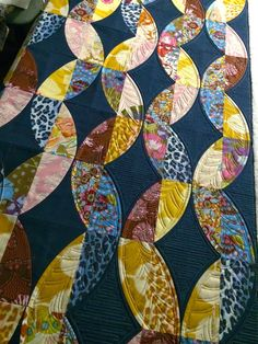 "I'm having fun quilting on this new QCR design.  We've decided to call it ""Metro Twist""! I had this top all loaded and was going t..."