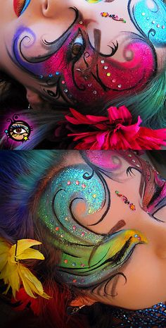 Circus Trapeze Rainbow. / Makeup, hair, photos and edit by me. January 2011. • Buy this artwork on stationery.