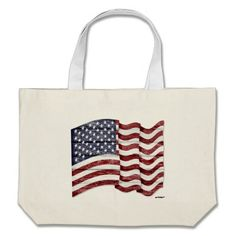 US Flag with wood grain Bag   •   This design is available on t-shirts, hats, mugs, buttons, key chains and much more   •   Please check out our others designs at: www.zazzle.com/ZuzusFunHouse*