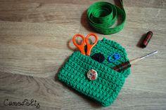 Ma petite pochette au crochet pour objets divers