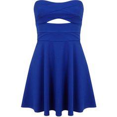 Miss Selfridge Petites Cobalt Skater Dress ($21) ❤ liked on Polyvore featuring dresses, vestidos, short dresses, dresses/skirts, bright blue, petite, petite dresses, mini dress, cobalt blue cocktail dress and blue skater dress