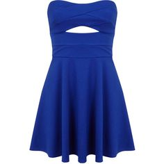 Miss Selfridge Petites Cobalt Skater Dress ($21) ❤ liked on Polyvore featuring dresses, vestidos, short dresses, dresses/skirts, bright blue, petite, skater dress, petite cocktail dress, blue cocktail dress and petite dresses