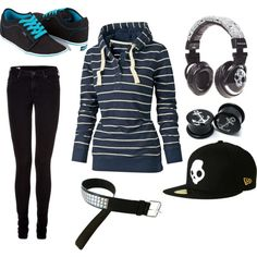 Fade to Black, created by mylittleemilyjayne4213 on Polyvore.... Minus the hat