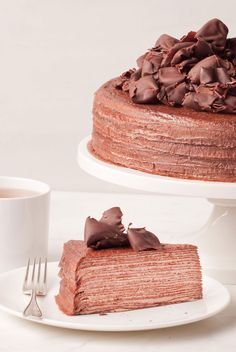 Mille Crepe chocolate cake by Lady M