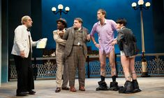 One Man Two Guvnors. Tom Edden, Trevor Laird, James Corden, Oliver Chris and Jemima Rooper. Adelphi.