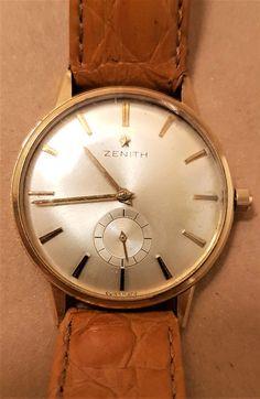 18k Gold Zenith Wrist Watch.