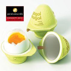 cocina los huevos en tres minutos, nada mas poniéndolos dentro :D