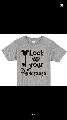 Lock Up Your Princesses / Boys Disney T-Shirt / Mickey Mouse T-Shirt / Disney Vacation Boys T-Shirt // Boys Disney Shirt Mickey Mouse Shirts, Boy Disney Shirts, Disney Vacation Shirts, Disneyland Shirts, Disney Shirts For Family, Disney Vacations, Disney Trips, Disneyland Trip, Disney Clothes