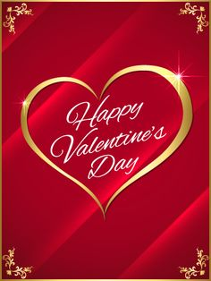 325 best valentines day images on pinterest in 2018 happy send free golden heart happy valentines day card to loved ones on birthday greeting cards by davia its free and you also can use your own customized m4hsunfo