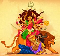 Happy Navratri to everyone. May Maa Ambe bless all of us with peace and love. Indian Gods, Indian Art, Durga Ji, Spiritual Beliefs, Spirituality, Durga Images, Happy D, Happy Navratri, Lord Shiva Painting