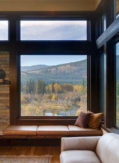 Leather window seat