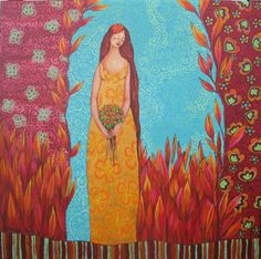 lady in gold Rock Tile, Mixed Media, Drawings, Break Free, Art Journaling, Divas, Rocks, Wisdom, Paintings