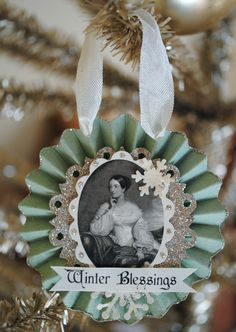 Handmade Christmas Ornament - this is a great way to include those family members who are no longer with us - via Artful Affirmations