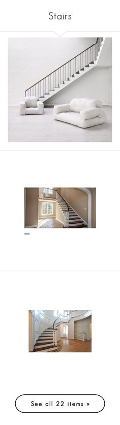 """Stairs"" by yelyahelise ❤ liked on Polyvore featuring rooms, backgrounds, stairs, home, buildings, empty room, interior, furniture, architecture and decor"