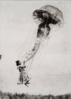 "Saatchi Art Artist Jaco Putker; Printmaking, ""The Girl and The Jellyfish"" #art"