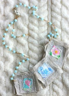 This would be a cute idea for a diy scapular.