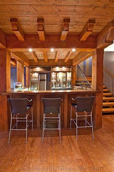 View our picture gallery of unique log cabin bars & game rooms. The perfect compliment to your log home or log cabin for entertaining!