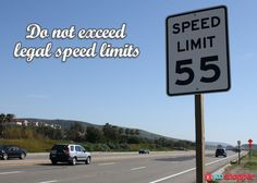 #safetytips #roadsafety Do not exceed legal speed limits - they are there for a reason.