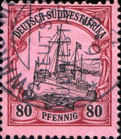 "German South West Africa 1901 ""Hohenzollern II"" (Yacht) [MiNr 19, Sc 21] 80pf"