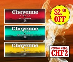 Starting NOW, take $2.00 off each carton of Cheyenne at $14.99 for 200 flavorful cigars! #filteredCigars #cheyenne #filteredcigars #menthol #vanilla #fullflavor