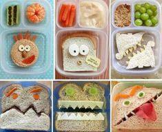 Fun back to school lunch ideas ;-) These are so cute, even if you just pick one, your kids will love! Include a special note from Mom and lunch will be complete. Back To School Lunch Ideas, School Lunch Box, School Snacks, School Tips, Creative School Lunches, Bento Box Lunch For Kids, Lunch Boxes, Toddler Meals, Kids Meals