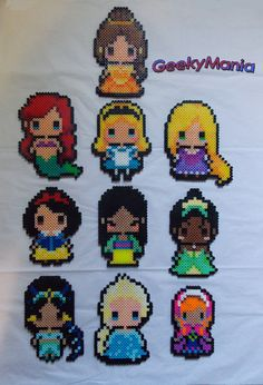Disney Princess Perler Beads by GeekyMania
