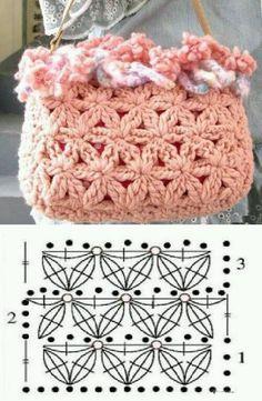 Patrones Crochet, Manualidades y Reciclado: CARTERAS TEJIDAS A CROCHET CON PATRONES Y GRÁFICOS GRATIS - UTILISIMA