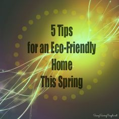 Check out these 5 TIPS for an Eco-Friendly Home this Spring!!! VERY easy to follow, and will help you make a difference! #ecofriendly #earthfriendly #savemoney