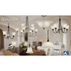 Kichler Lighting 42881NIW Nicholson 1LT Pendant Brushed Nickel Finish with Satin Etched Glass >>> To view further for this item, visit the image link. (Note:Amazon affiliate link)