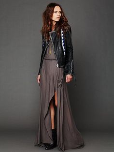 Casual / Grey / Black / Leather / Maxi / Cotton / Summer / Love