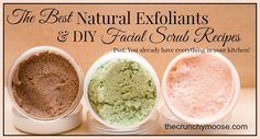 One of the key steps to having radiant skin is to get rid of dead skin cells. Here are the best natural exfoliants & DIY, facial scrub recipes.