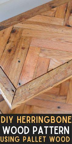 Used Pallets, Wood Working For Beginners, Wood Patterns, Herringbone Pattern, Pallet Wood, Wood Design, Woodworking Crafts, Wood Crafts, Wood Projects