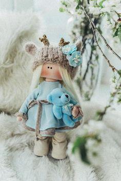 StoffPuppe, Art & Deko Doll, Einzigartige Geburtstag, Hochzeit, Muttertag, Jubileum, Elfe Teddy Bear, Etsy, Gift, Party, Design, Animals, Mother's Day, Unique, Craft Gifts