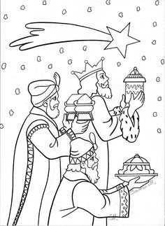 the three wise men color pages for kids - Yahoo Image Search Results Preschool Christmas, Christmas Nativity, A Christmas Story, Christmas Colors, Kids Christmas, Christmas Crafts, Nativity Coloring Pages, Bible Coloring Pages, Christmas Coloring Pages